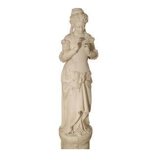 Antique Italian Marble Statue of a Woman, Late 19th Century For Sale