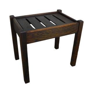 Mission Oak Antique Slat Seat Stool For Sale