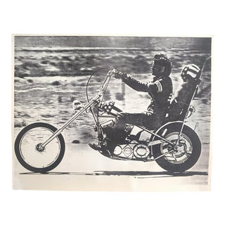 "Rare Original Vintage 1969 "" Easy Rider "" Peter Fonda Iconic Peter Sorel Black & White Photo Poster For Sale"