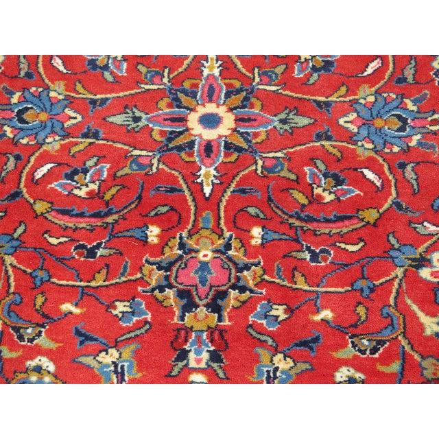 Red 1980s Vintage Sarouk Pattern Rug- 8′ × 11′6″ For Sale - Image 8 of 11