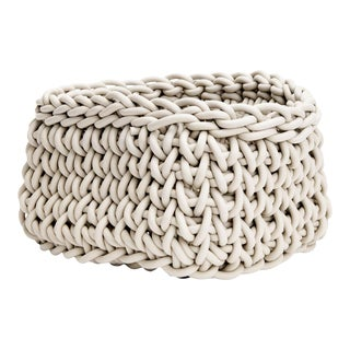 Hand-Knit Quadrato Neoprene Basket, Neo For Sale