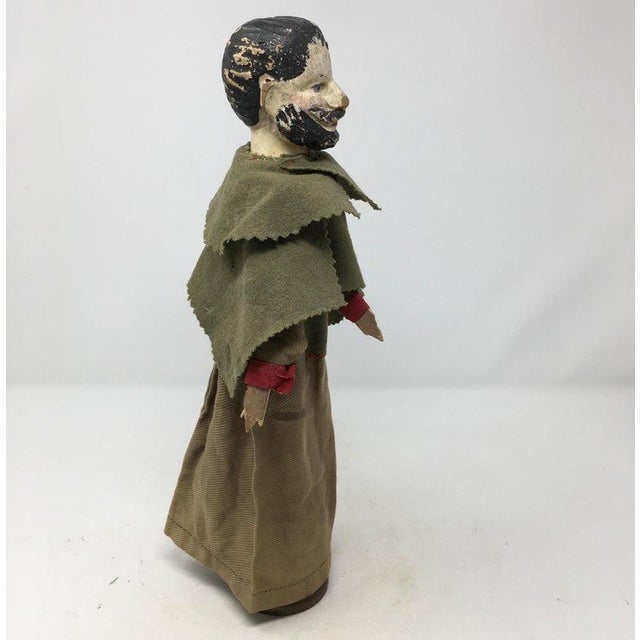 Army Green Antique French Marionette For Sale - Image 8 of 8