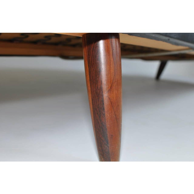 Danish Leather Sofa with Rosewood Legs For Sale - Image 9 of 10