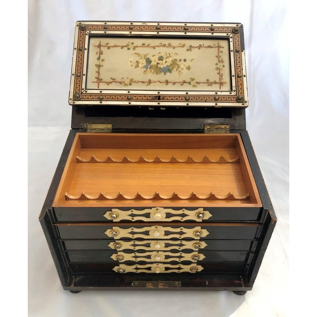 English Antique Rosewood Humidor Box, Circa 1880. For Sale - Image 3 of 6