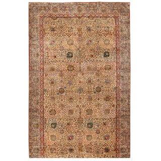 Antique Oversize Persian Lavar Kerman Carpet For Sale