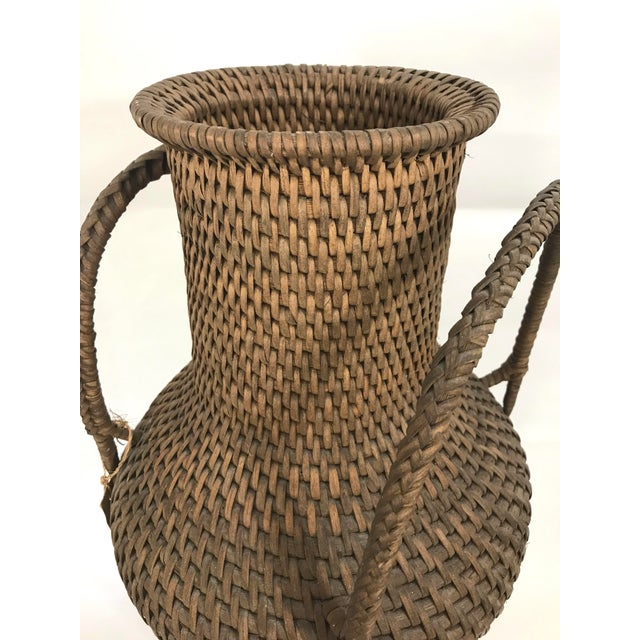 Hapao Philippine Woven Rattan Urn/Vase For Sale - Image 4 of 7