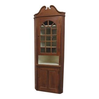 Antique Early American Corner Cupboard