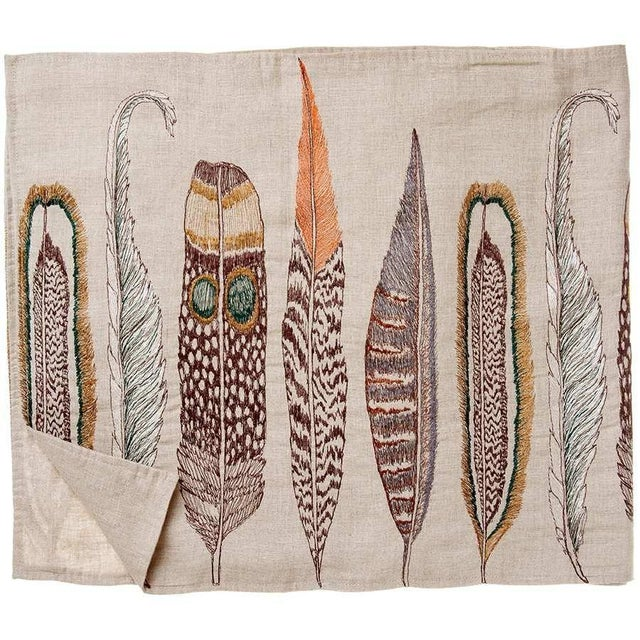 We drew on our own collection of found feathers, gathered on walks or while traveling, for our Large Feathers design....