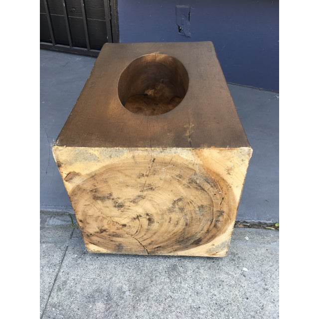 Wood Mahogany Sculptural Side Table For Sale - Image 7 of 9