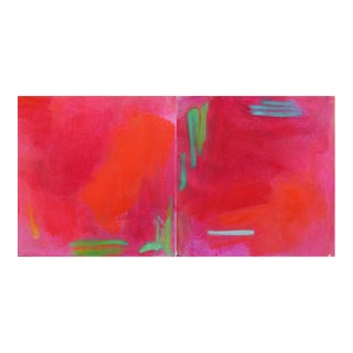 "Small Abstract Oil Painting by Trixie Pitts ""Miami Duo"""