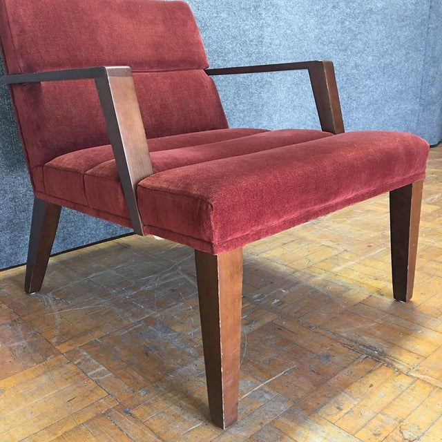 Bright Elana Burgundy Lounge Armchairs - A Pair - Image 5 of 11