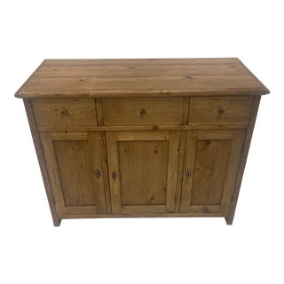 Mid 19th Century 3 Door Pine Buffet For Sale