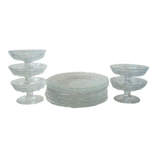 Heisey Plates & Bowls - Set of 11 For Sale