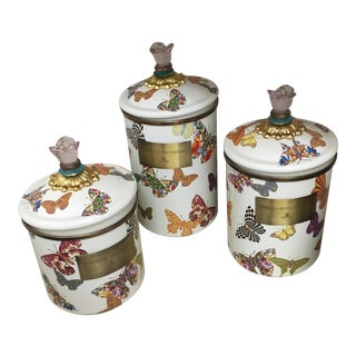 Mackenzie-Child's Butterfly Canisters - Set of 3