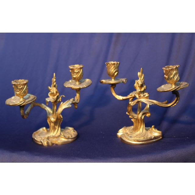Late 19th Century Late 19th C. Louis XV Style Candelabras - A Pair For Sale - Image 5 of 5