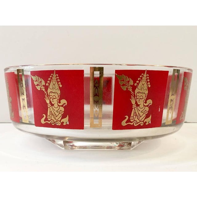 "Culver Mid-Century Red & 22k Gold ""Thai Goddess"" Drinks - Set of 9 - Image 4 of 8"