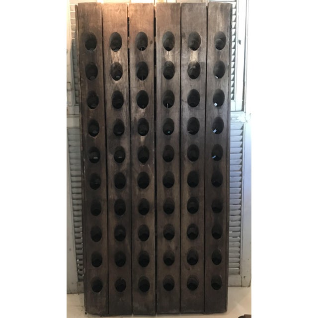 Vintage Oak French Champagne or Wine Riddling Rack For Sale In Portland, ME - Image 6 of 13