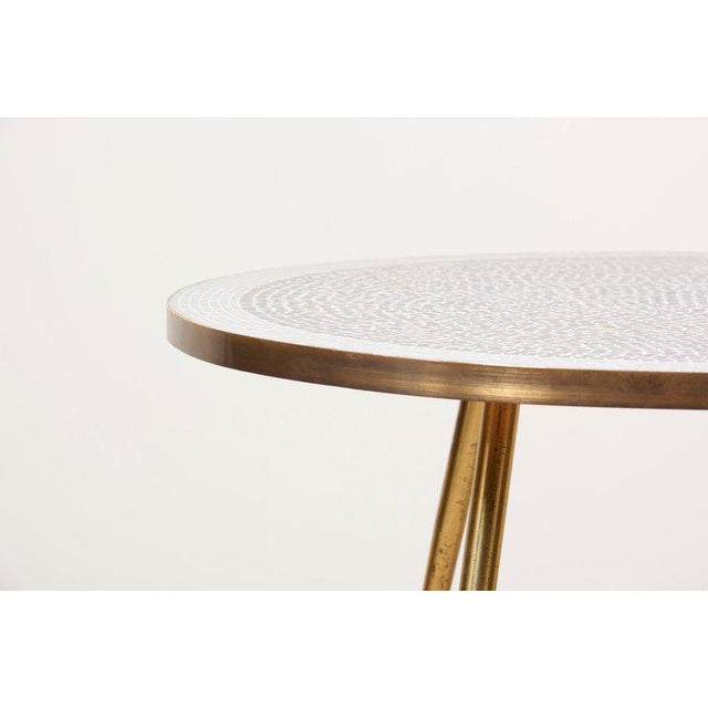 Gold Weird Shaped Mosaic Coffee Table by Berthold Müller, Germany For Sale - Image 8 of 12
