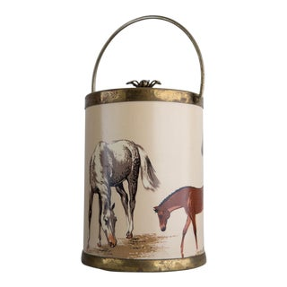 Vintage Equestrian Wine Bucket For Sale