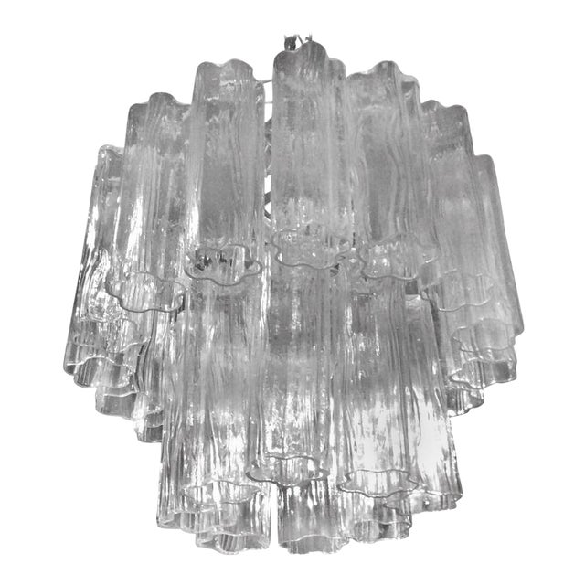 Vintage Murano Glass Chandelier Tronchi For Sale - Image 12 of 12