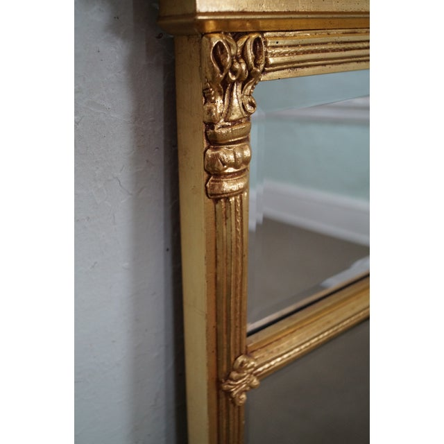 Italian Made Gilt Federal Hanging Wall Mirror - Image 7 of 10
