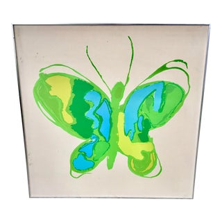 Tom Tru for Raymore MCM Serigraph Butterfly Print For Sale