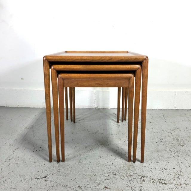 Widdicomb t.h. Robsjohn-Gibbings Nesting Tables for Widdicomb - Set of 3 For Sale - Image 4 of 13
