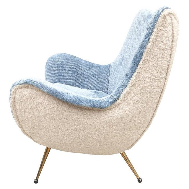 1960s Pair of Armchairs Attributed to Marco Zanuso For Sale - Image 5 of 6