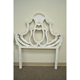 1950s French Cast Aluminum Metal Shell Twin Bed Headboards - a Pair Preview