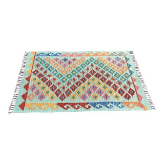 Turkish Handwoven Kilim Rug - 2′4″ × 3′9″
