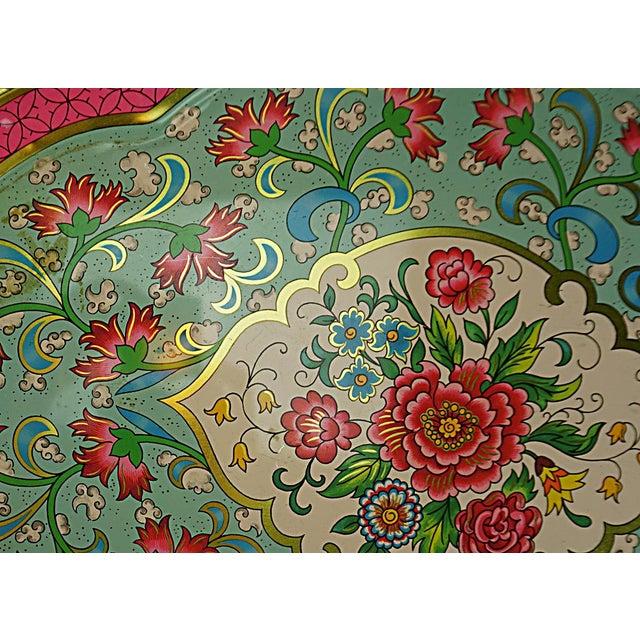 Vintage Floral Metal Tray by Daher - Image 4 of 6