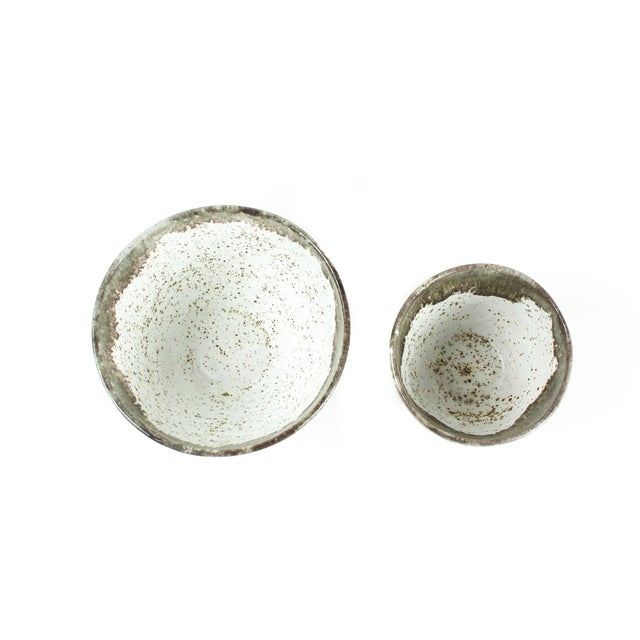 Gray Speckled Bowls - Pair - Image 4 of 4