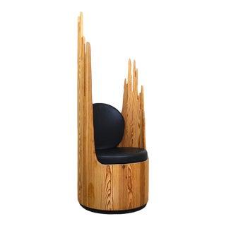 Custom Sculpted Throne Chair For Sale