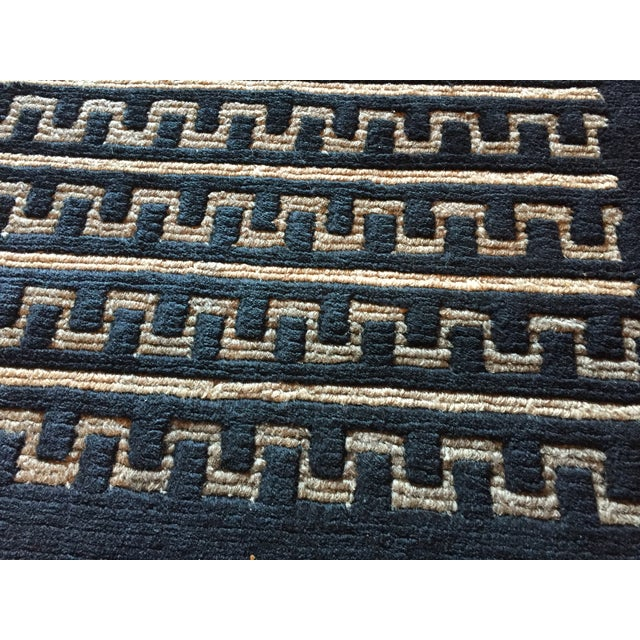 "Black and Natural Contemporary Rug - 4'10"" X 7'10"" - Image 3 of 4"