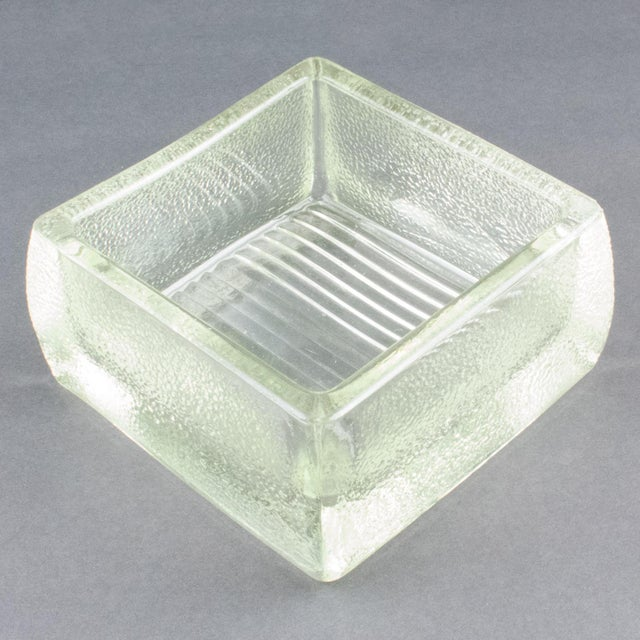 Le Corbusier for Lumax Molded Glass Catchall Ashtray For Sale - Image 9 of 13