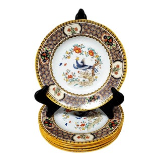 Mid-Century Mintons Fancy Bird Luncheon Plates - Set of 6 For Sale