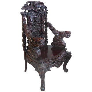 19th C. Japanese Meiji Throne Chair