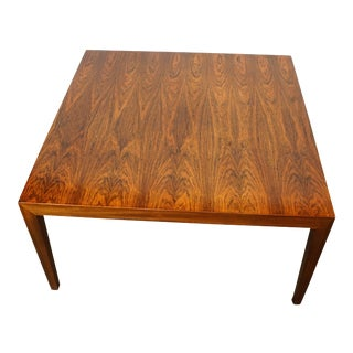 Severin Hansen Jr-Large Rosewood Side/Coffee Table For Sale