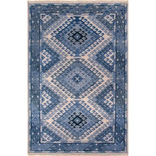 Artemis by Jaipur Living Hobbs Hand-Knotted Geometric Blue/ Light Gray Area Rug - 10'x14'