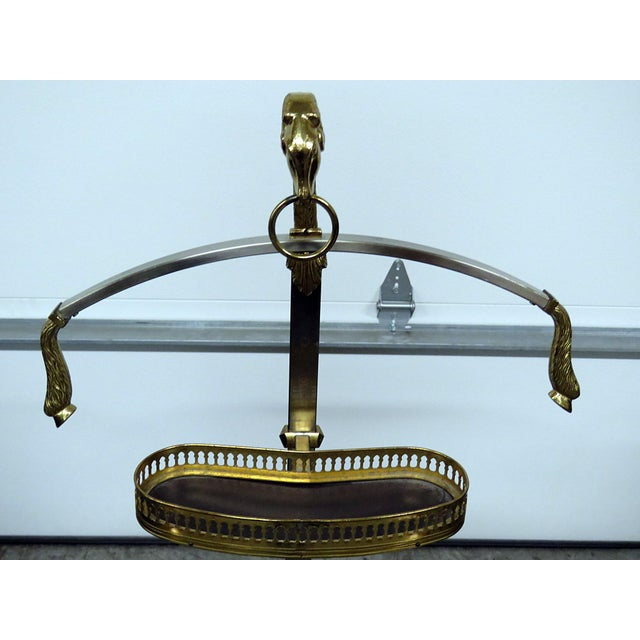 Italian Chrome and Brass Gentleman's Valet For Sale - Image 4 of 9