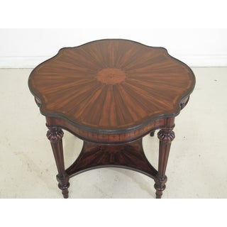Traditional Theodore Alexander Inlaid Scalloped Top Center Table Preview