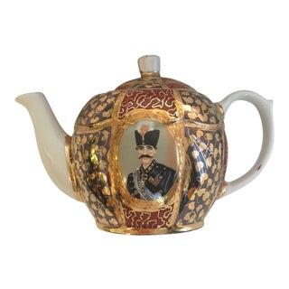 Antique Persian Porcelain Teapot For Sale