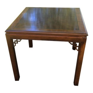 Vintage Drexel Chinese Chippendale Burlwood Table