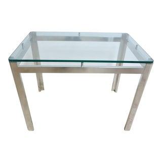 Vintage Mid-Century Aluminum Chrome Floating Side Table