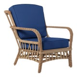 Image of Viscaya Club Chair in Pacific Blue For Sale