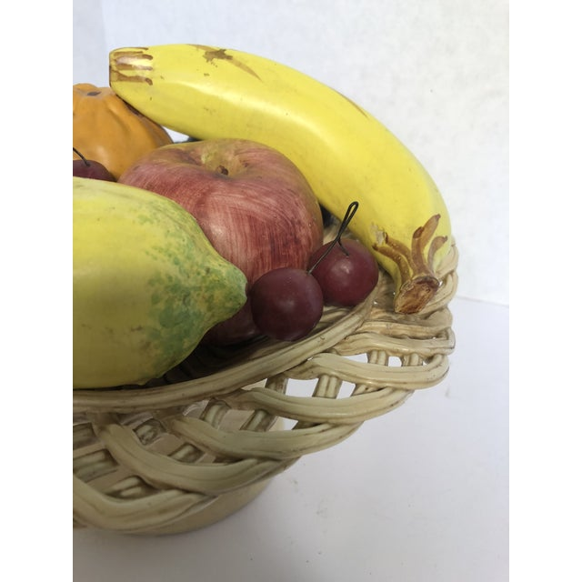 Italian 1980s Traditional Italian Porcelain Fruit Topiary/Basket For Sale - Image 3 of 11