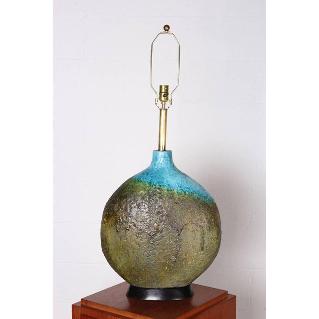 Large Ceramic Lamp by Raymor - Image 2 of 10