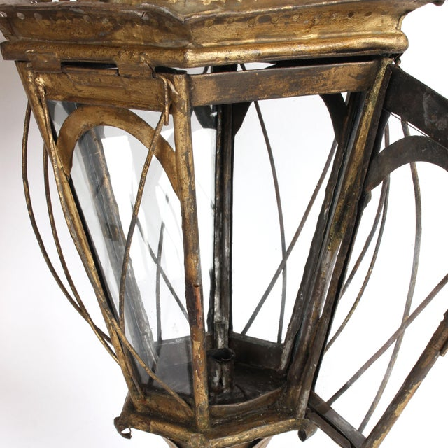 Metal Pair of 19th Century Italian Processional Lanterns For Sale - Image 7 of 11