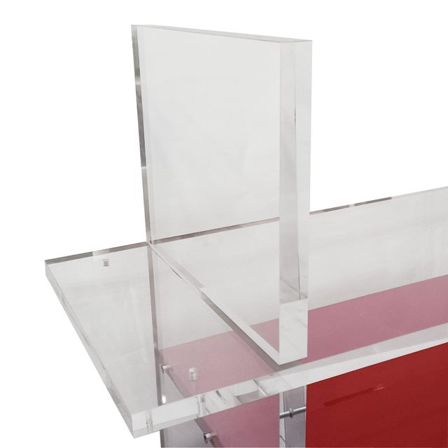 1980´s Pair of Bookcases, Plexiglas, Cast Iron - Italy For Sale - Image 6 of 8
