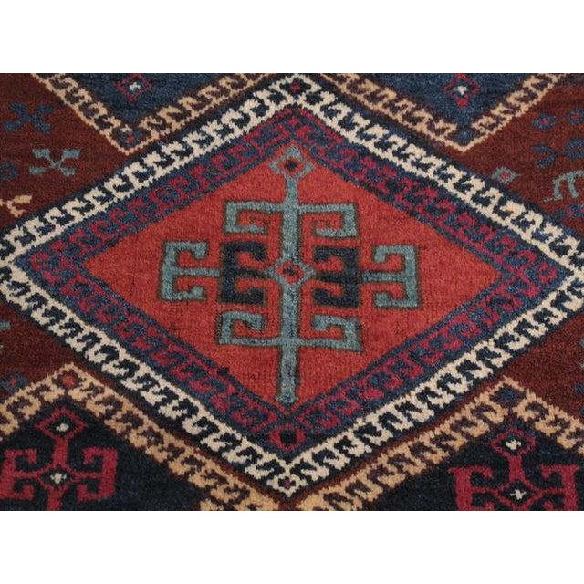 Mid 19th Century Antique Kurdish Long Rug For Sale - Image 5 of 9